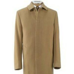 Jos A. Bank camel hair trench coat 46XL